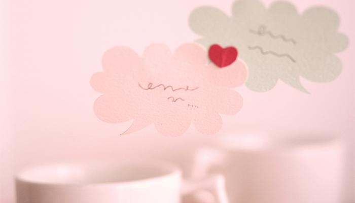 恋人とメッセージのやり取り